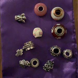 Bracelet beads.  Includes Pandora beads